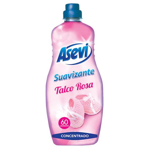 Suavizante Asevi Talco Rosa.Droguería online,venta de productos de limpieza de las mejores marcas.Líderes en artículos de limpieza.