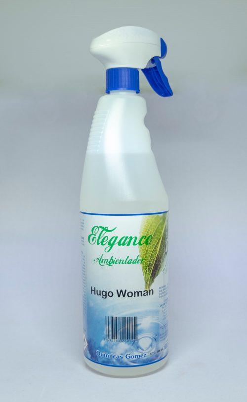 Ambientador Hugo Woman.Droguería online,venta de productos de limpieza de las mejores marcas.Líderes en artículos de limpieza.