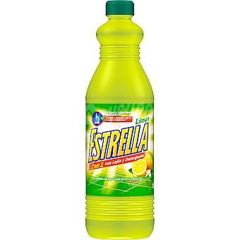 Lejía con detergente limón la estrella