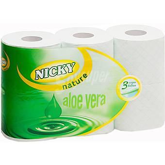 Papel higiénico nicky aloe vera