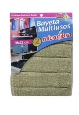 Bayeta multiusos microfibra super net 2 unidades
