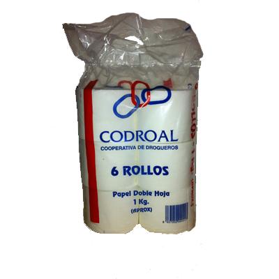 Papel higiénico codroal 6 rollos