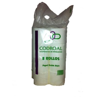 Papel higiénico codroal 8 rollos.Droguería online,venta de productos de limpieza de las mejores marcas.Líderes en artículos de limpieza.