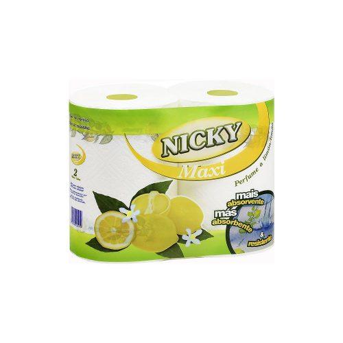 Papel cocina nicky limón 2 rollos.Droguería online,venta de productos de limpieza de las mejores marcas.Líderes en artículos de limpieza.