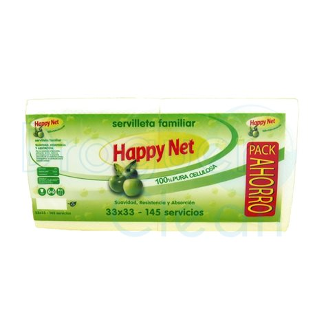 Servilletas happy net blancas duo