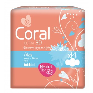 Compresas Coral Ultra Alas