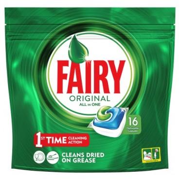 Fairy Original 16 cap.Droguería online,venta de productos de limpieza de las mejores marcas.Líderes en artículos de limpieza.