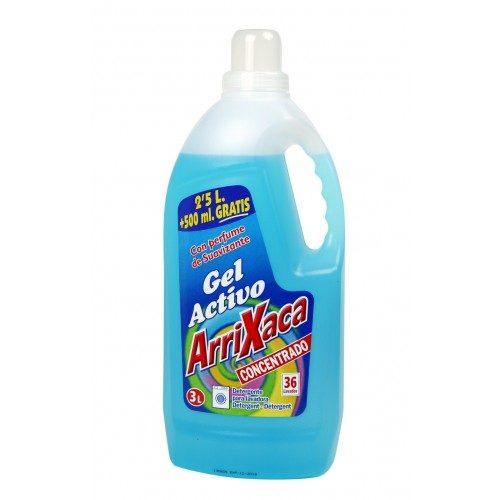 Detergente arrixaca gel activo.Droguería online,venta de productos de limpieza de las mejores marcas.Líderes en artículos de limpieza.