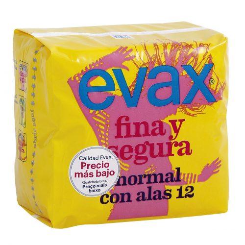 Compresas Evax Normal Alas.Droguería online,venta de productos de limpieza de las mejores marcas.Líderes en artículos de limpieza.