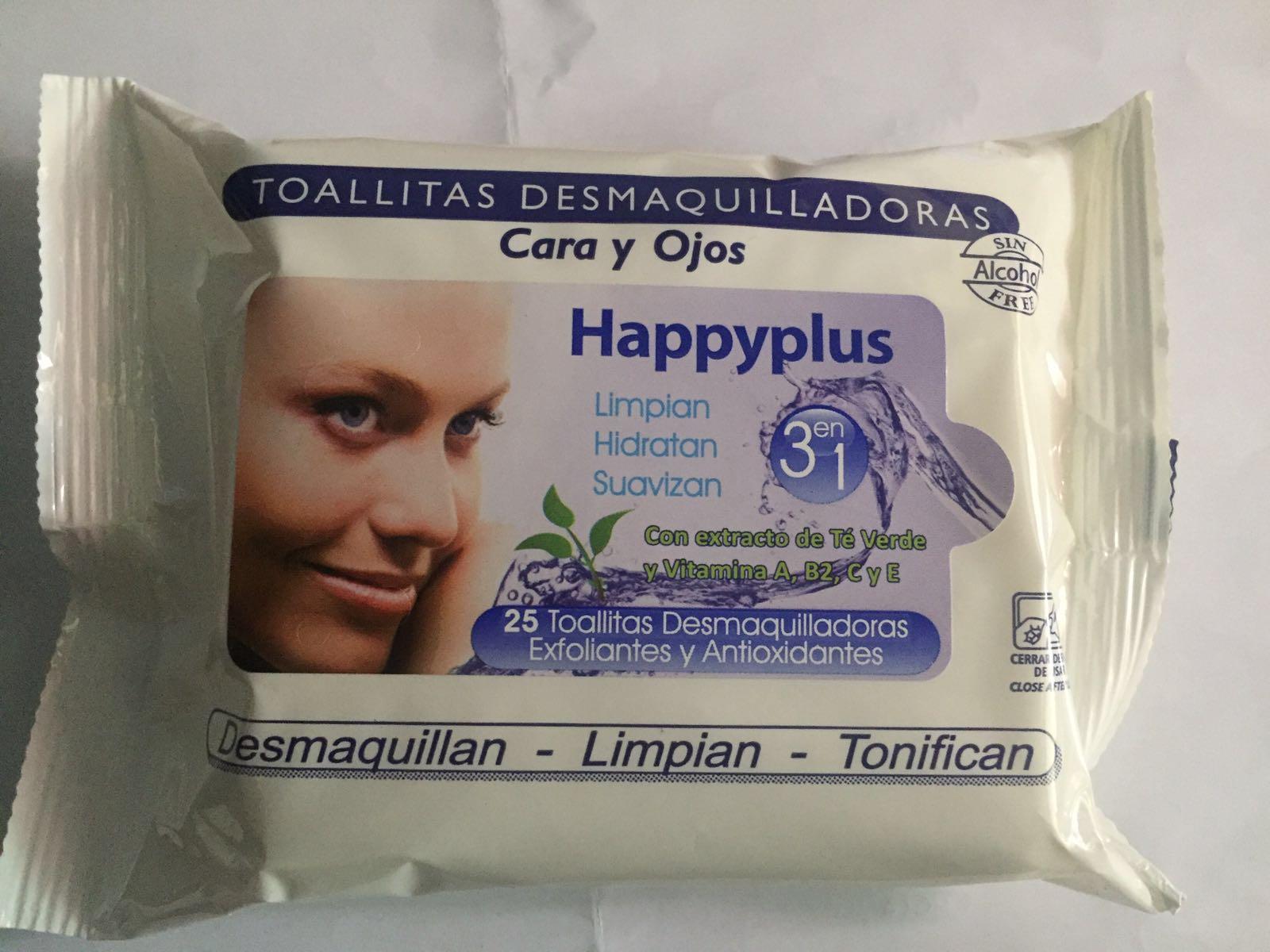 Toallitas desmaquillantes happyplus