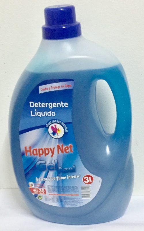 Happy net gel azul.Droguería online,venta de productos de limpieza de las mejores marcas.Líderes en artículos de limpieza.
