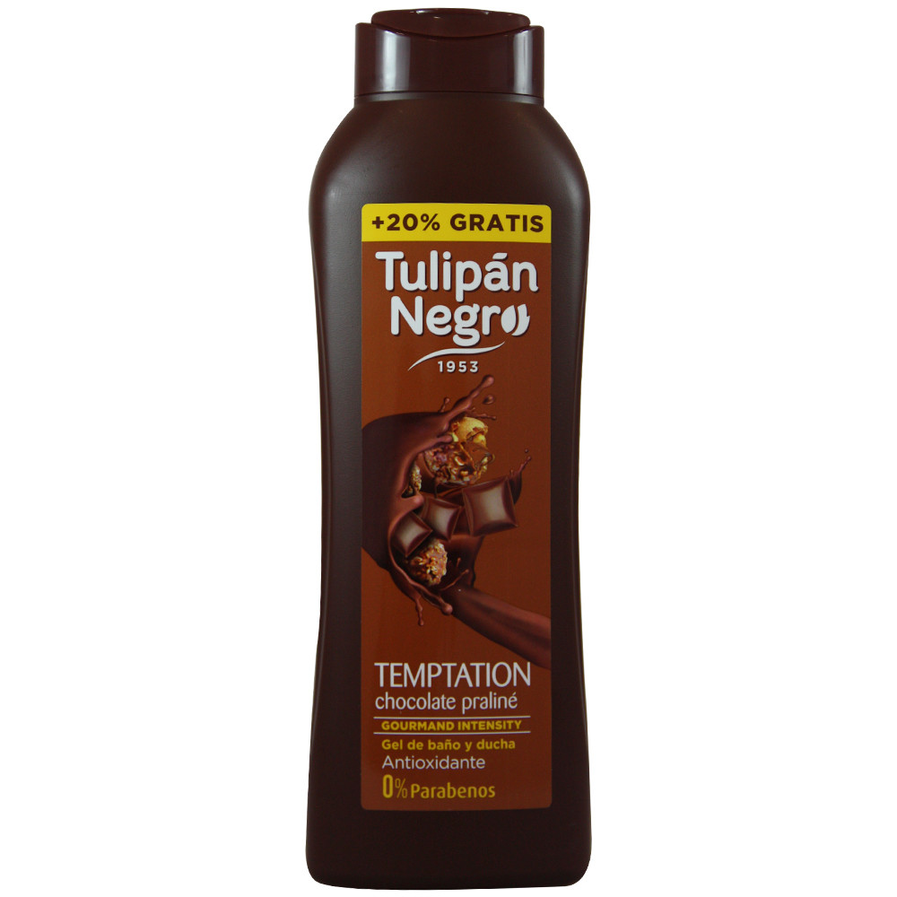 Gel tulipán negro chocolate