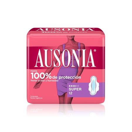 Compresas Ausonia Alas Super.Droguería online,venta de productos de limpieza de las mejores marcas.Líderes en artículos de limpieza.