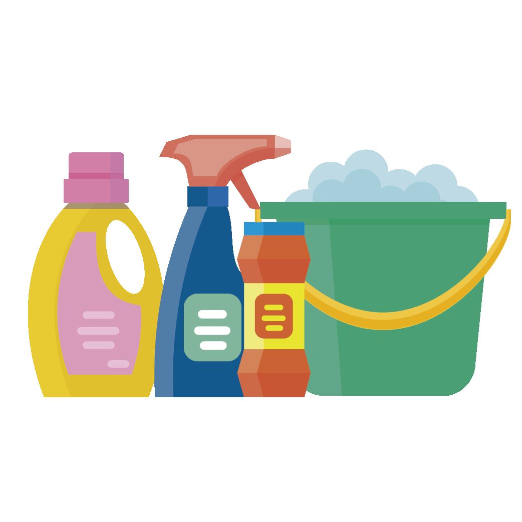 Lejía, amoniaco y desinfectantes