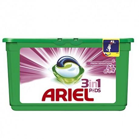 Cápsulas Ariel Fresh Sensations.Droguería online,venta de productos de limpieza de las mejores marcas.Líderes en artículos de limpieza.