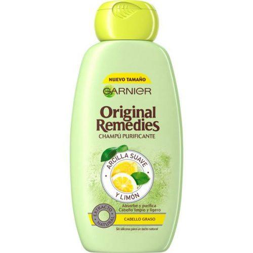 Champú Garnier Arcilla y Limón.Droguería online,venta de productos de limpieza de las mejores marcas.Líderes en artículos de limpieza.