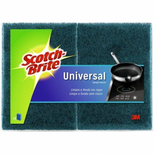 Estropajo Scotch Brite Universal.Droguería online,venta de productos de limpieza de las mejores marcas.Líderes en artículos de limpieza.
