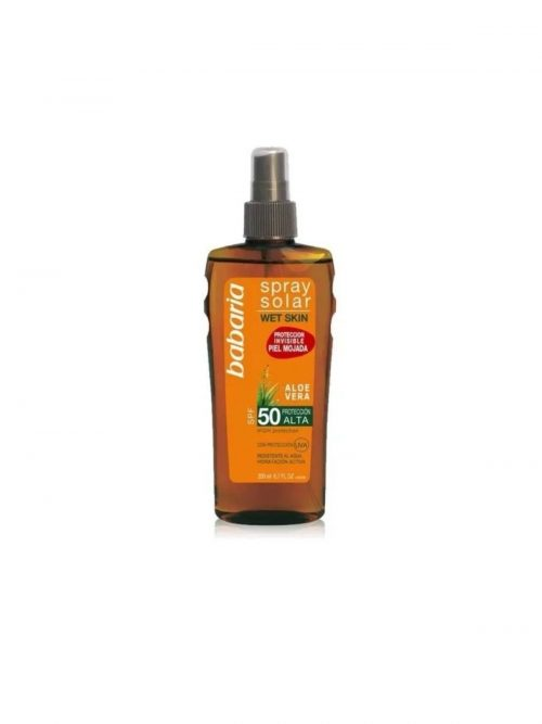 Babaria Spray Solar Aloe Vera 50.Droguería online,venta de productos de limpieza de las mejores marcas.Líderes en artículos de limpieza.