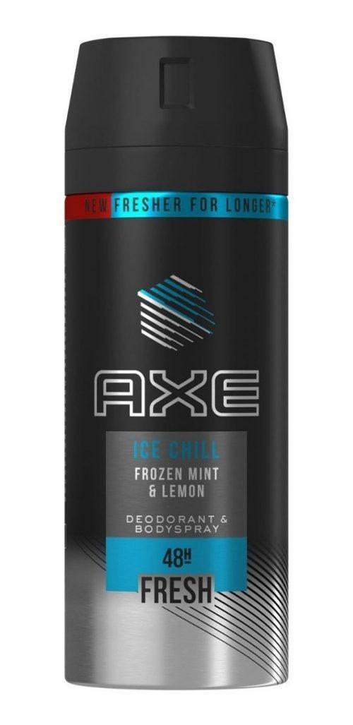 Desodorante Axe Ice Chill.Droguería online,venta de productos de limpieza de las mejores marcas.Líderes en artículos de limpieza.