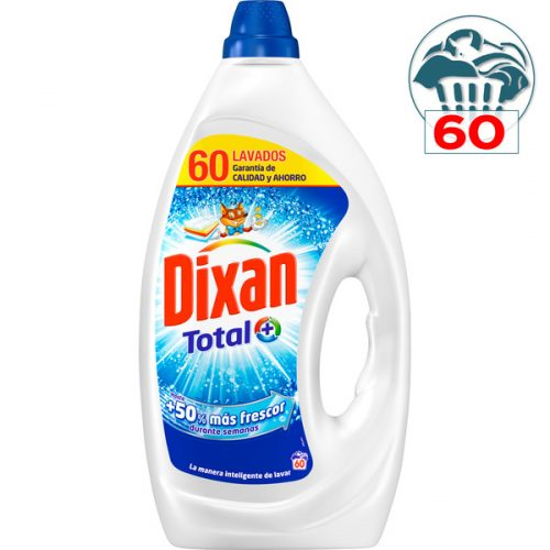 Detergente dixan total.Droguería online,venta de productos de limpieza de las mejores marcas.Líderes en artículos de limpieza.